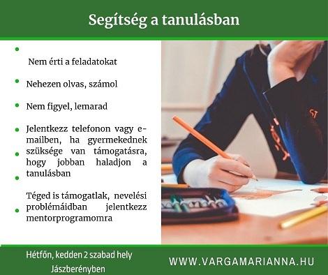 segítség a tanulásban Varga Marianna online coaching
